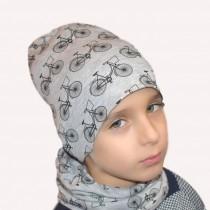 Wiosenna czapeczka dla chłopca lub dziewczynki lub chłopca typu krasnal + komin