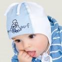 Jesienna czapeczka dla chłopca'' Puf  Puf''