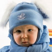Zimowa czapeczka dla chłopczyka z szalikiem