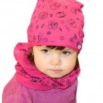 Jesienna czapeczka dla dziewczynki ''Sówki''