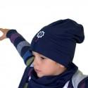 Jesienna czapeczka dla chłopca lub dziewczynki .