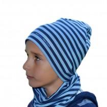 Jesienna czapeczka dla chłopca typu krasnal + komin.