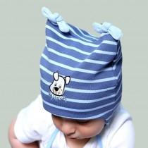 Jesienna czapeczka dla chłopczyka z aplikacja My Doogy