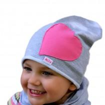 Jesienna czapeczka dla dziewczynki typu krasnal + komin