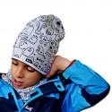 Jesienna czapeczka dla chłopca lub dziewczynki typu krasnal + komin