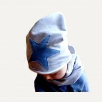 Jesienna czapeczka dla chłopczyka typu krasnal + komin