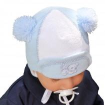 Jesienna czapeczka z frotki dla chłopca