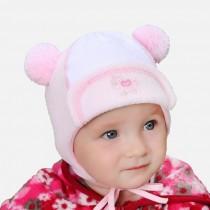 Jesienna czapeczka z frotki dla dziewczynki