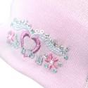 Jesienna czapeczka dla dziewczynki z serduszkiem.