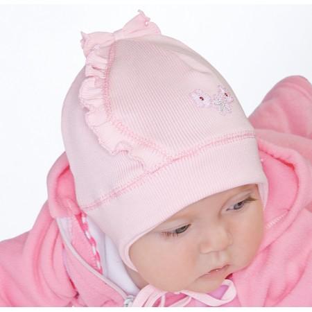 Wiosenna czapeczka dla dziewczynki Kwiatuszek
