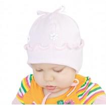 Jesienna czapeczka dla dziewczynki Kwiatuszek