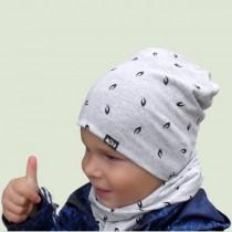 Czapeczka dla chłopczyka lub dziewczynki na jesień typu krasnal + komin