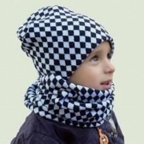 Czapeczka dla dziewczynki lub chłopca na Zimę typu krasnal + komin