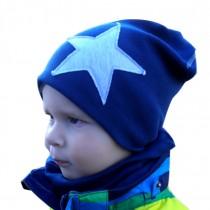 Zimowa czapeczka dla chłopczyka lub dziewczynki typu KRASNAL + KOMIN