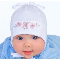 Wiosenna czapeczka dla dziewczynki Mila