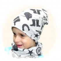 Jesienna czapeczka dla chłopca.