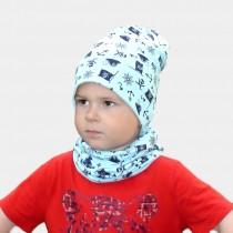 Wiosenna czapeczka dla chłopca lub dziewczynki typu krasnal + komin